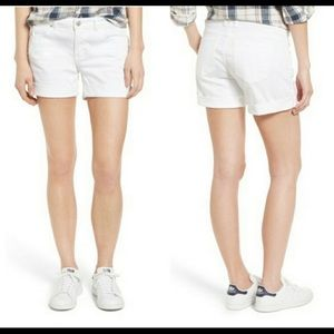 Caslon white boyfriend shorts NWT